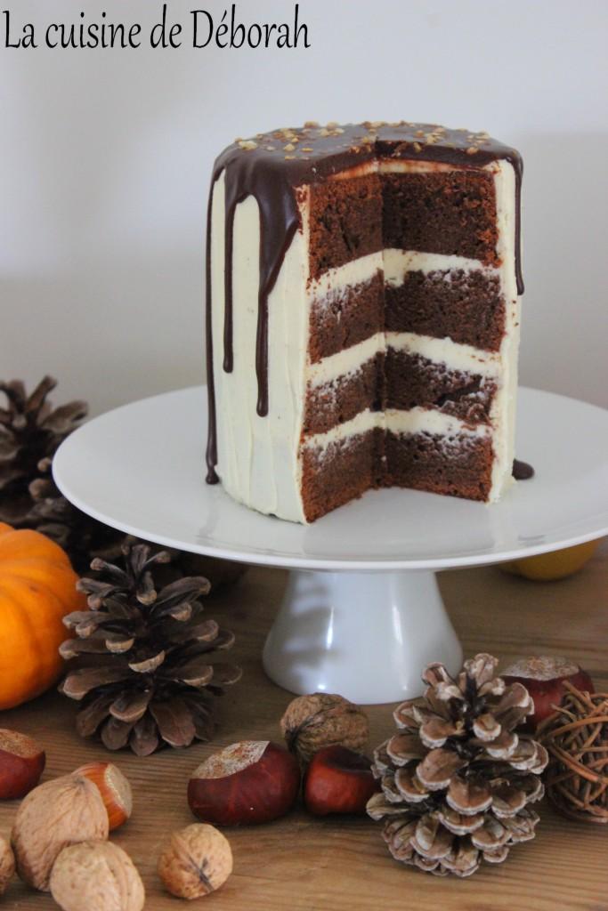 Cake Banane Chocolat Noir Noisette